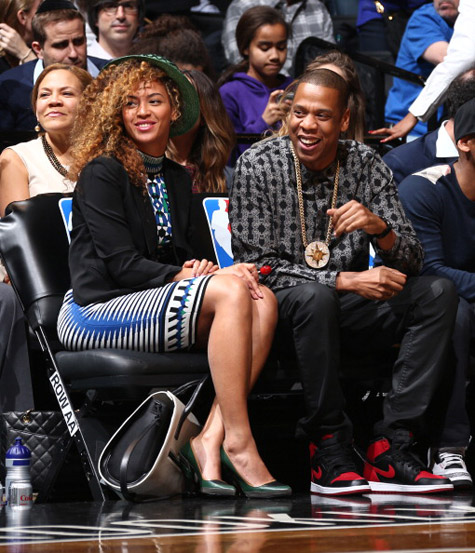 Do or Dont Beyonce Goes Curly For Nets Game