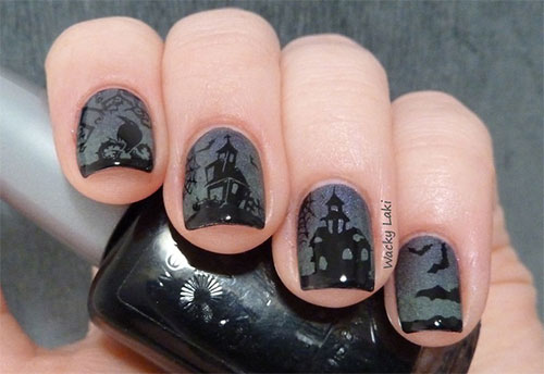 halloween-inspired nail art