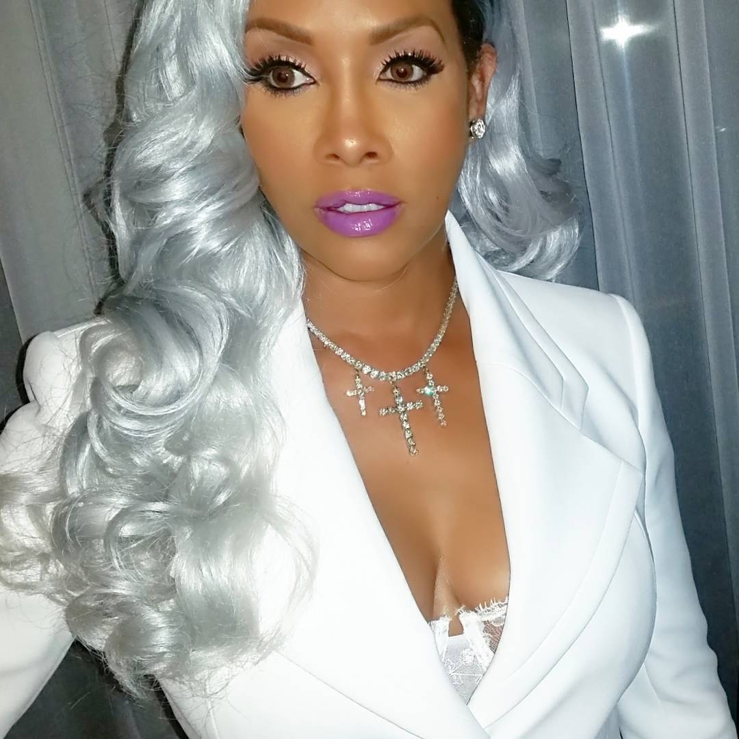 Vivica Fox  15 Other Celebs Whove Slayed The Grey Hair Trend