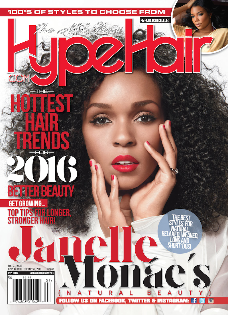 Janelle Mone Covers Hype Hair JanuaryFebruary Issue