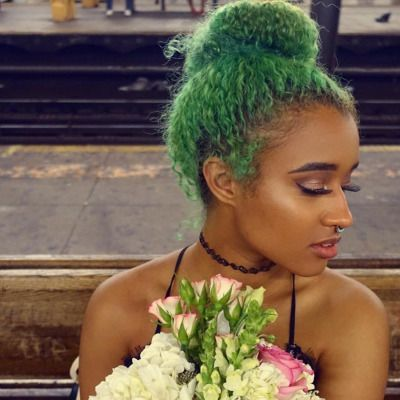 color play 15 gorgeous green hairstyles