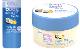 Lottabody Leave-In Conditioner & Curl Styling Pudding