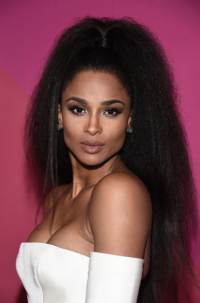 ciara stuns in blowout ponytail