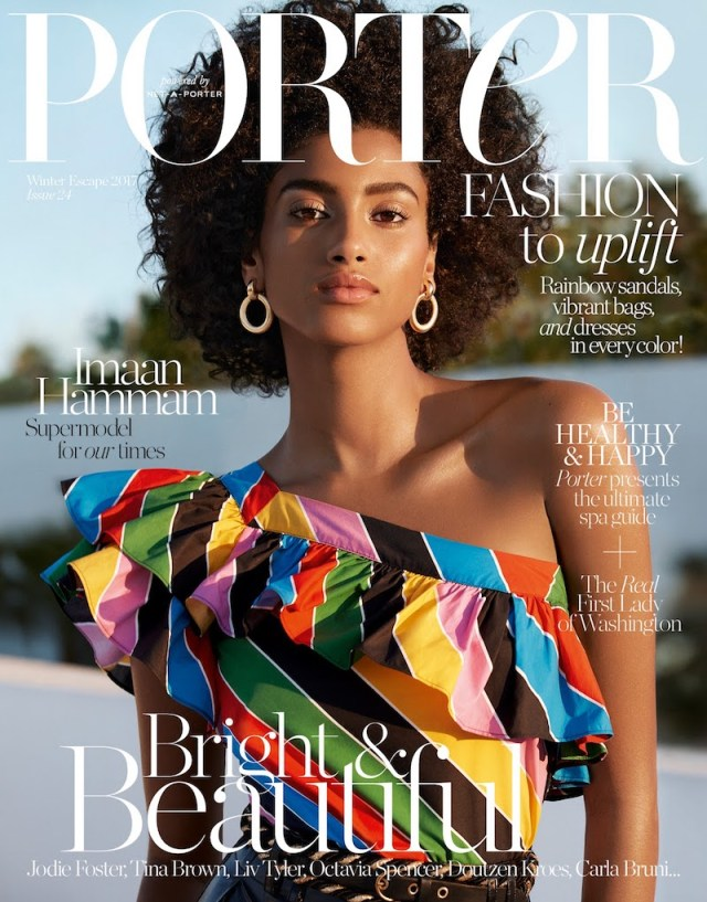 Imaan Hammam X Porter Magazine Winter Escape 2017