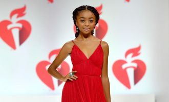 Skai Jackson AHA Red Dress Collection
