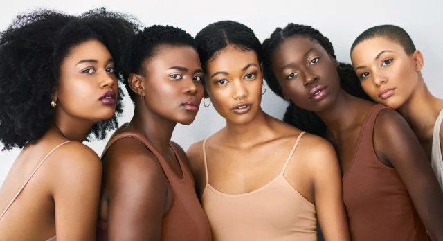 Black women skin of color