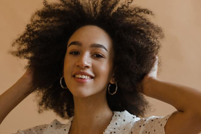 Black woman with afro hair