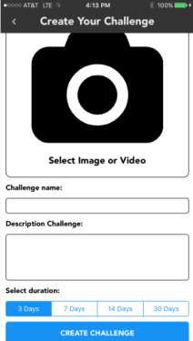 Create Challenge Screen