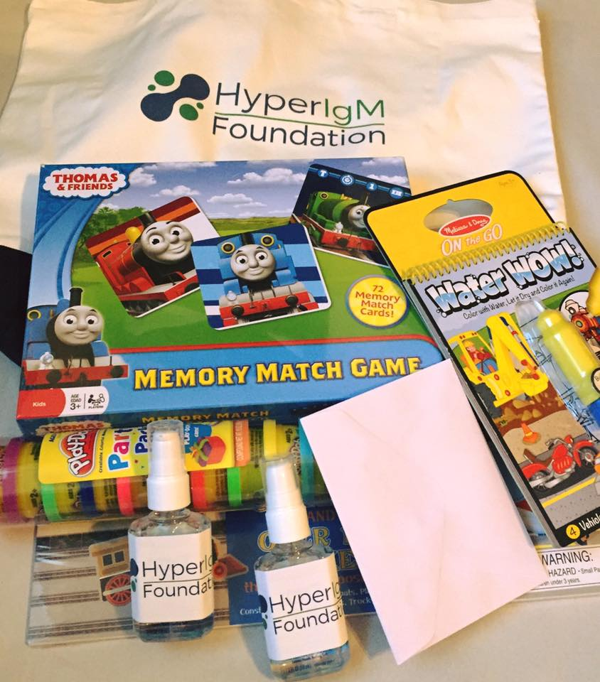 Help us send out care packages to patients
