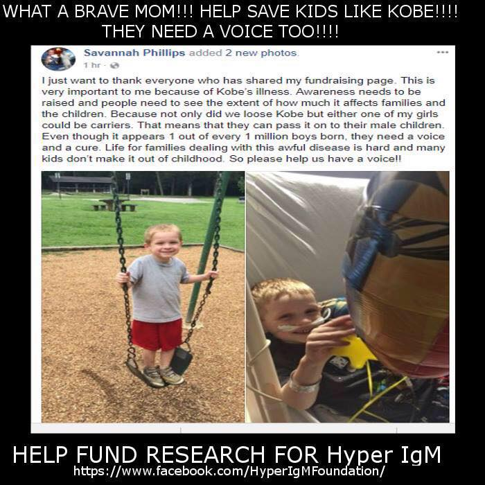 Moving Fundraiser Created by Mom in Honor of Son Who Lost Fight to Hyper IgM