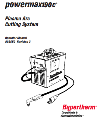 Hypertherm Powermax 190c Operator's Manual