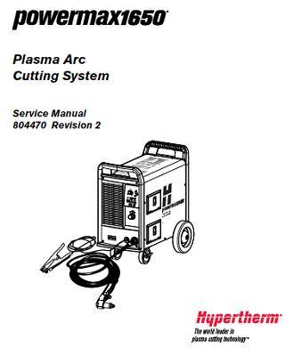 Hypertherm Powermax 1650 Service Manual