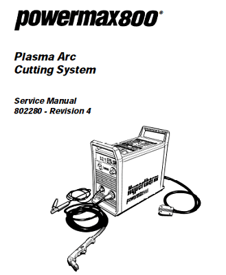Hypertherm Powermax 800 Service Manual
