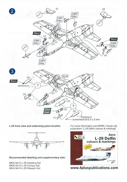 Mark 1 Models 1/144 scale Aero L-29/L-29A Delfin, L-29R/RS