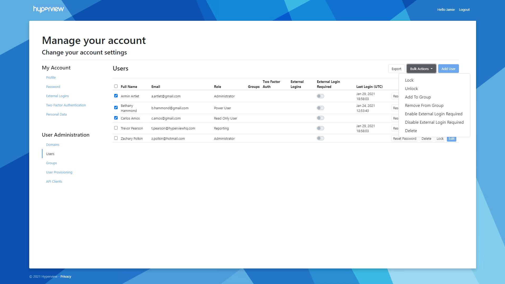 Bulk Update Users