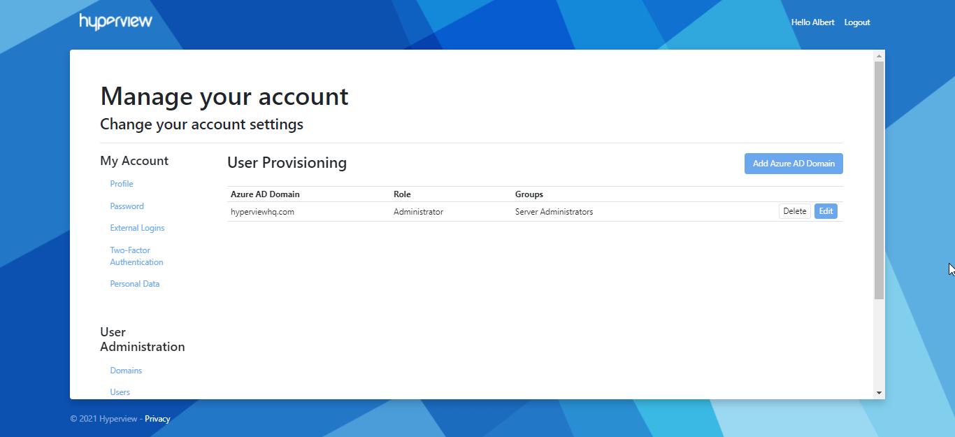 Auto-provisioning Azure AD