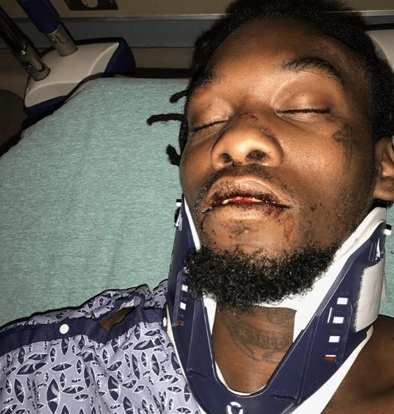 Offset Les Photos Chocs De Son Accident De Voiture