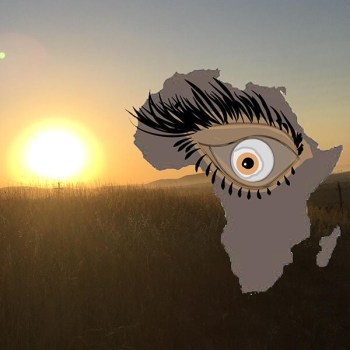The morning sun in Africa