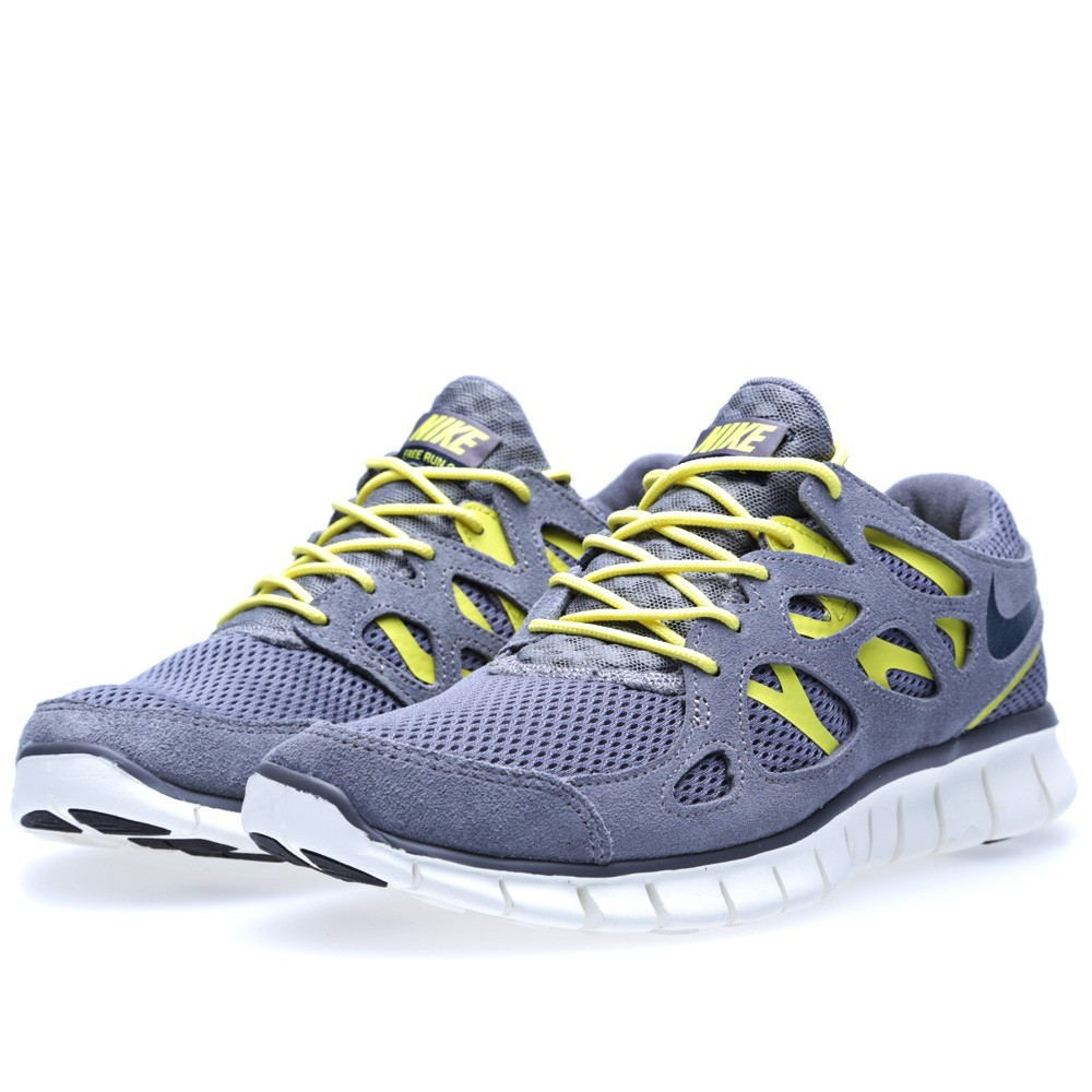 Price $62 Nike WMNS Free Run 2 537732-007 Cool Grey Armoury/Navy Womens Running Shoes Original Cheap - Best Restock Releases in USA Shop