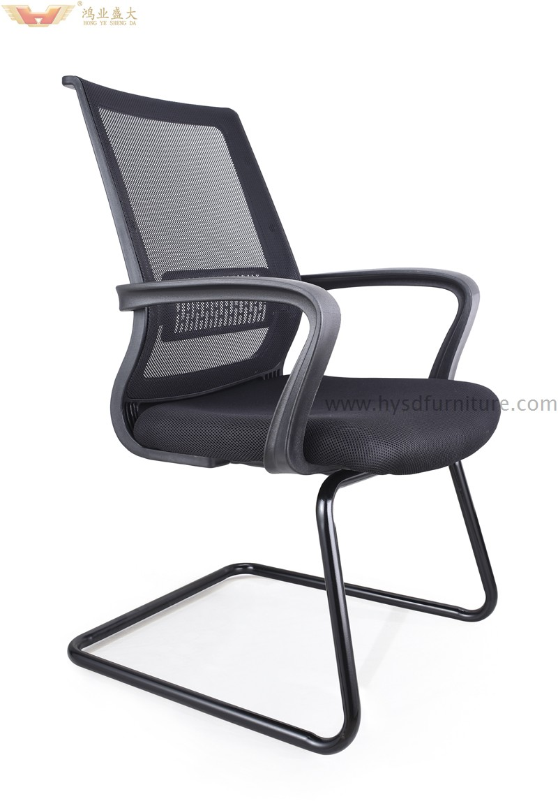 office chair not on wheels modern baby high new design meeting room mesh chairs without hy 906h