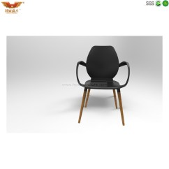 Black Plastic Chair With Wooden Legs Dining Room Seat Covers Target Wholesale Modern Solid Wood