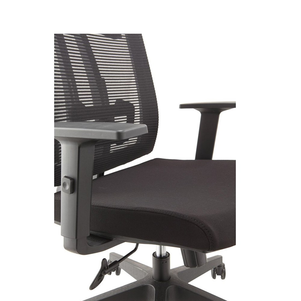 swivel office chair without arms antique dentist chairs ergonomic mesh high back computer with pu headrest padded adjustable arms(hy-6205a ...