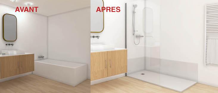 changer sa baignoire pour une douche awesome large size of baignoire en douche de la rochelle