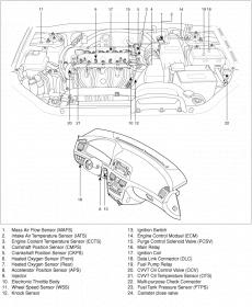 Crankshaft position sensor location 2008 Sonata 2.4