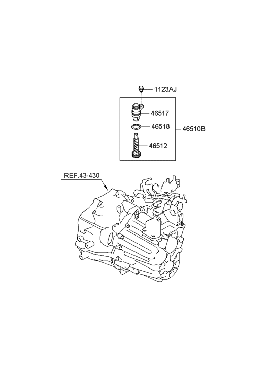 2008 Hyundai Sonata Speedometer Driven Gear-Manual