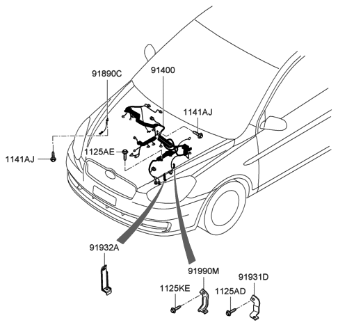 2005 Hyundai Accent New Body Style Control Wiring