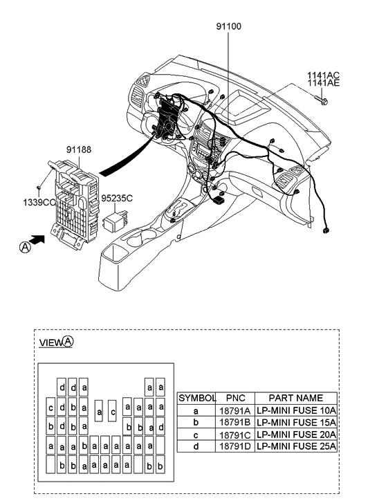 2011 Hyundai Accent New Body Style Main Wiring