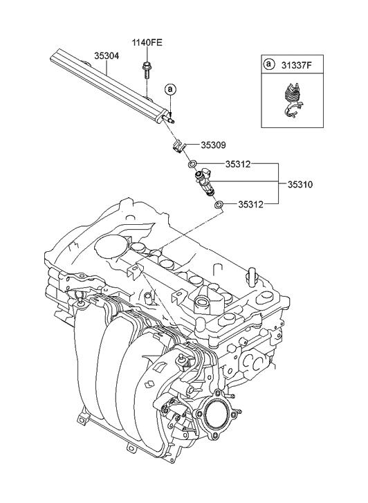 2012 Hyundai Elantra Korean made Throttle Body & Injector