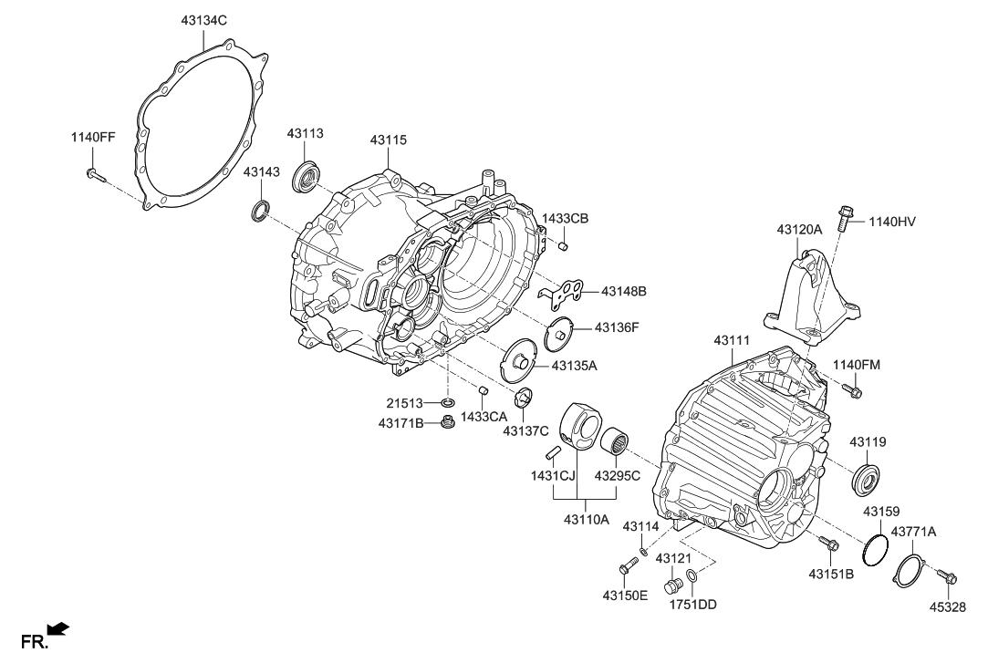 2019 Hyundai Veloster N Transaxle Case-Manual