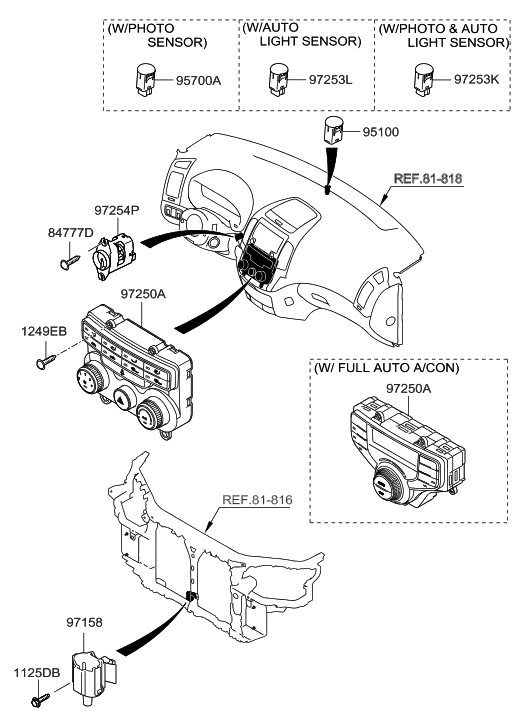 2012 Hyundai Elantra Touring Heater System-Heater Control
