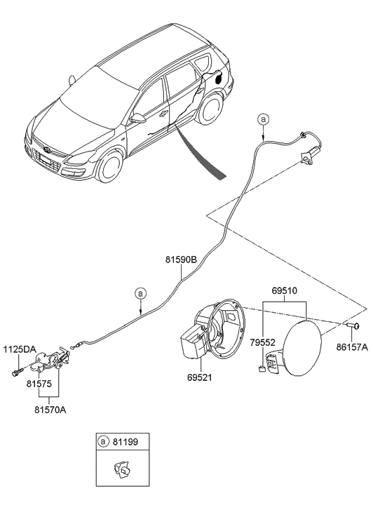 2012 Hyundai Elantra Touring Fuel Filler Door