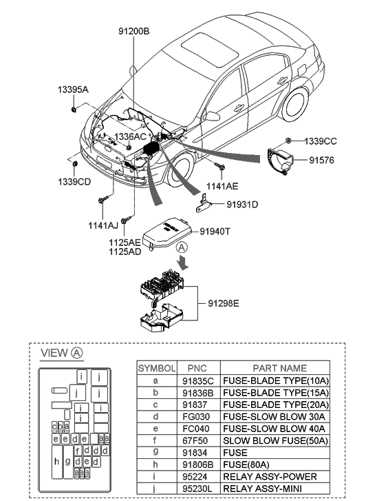 2011 Hyundai Accent Old Body Style Engine Wiring
