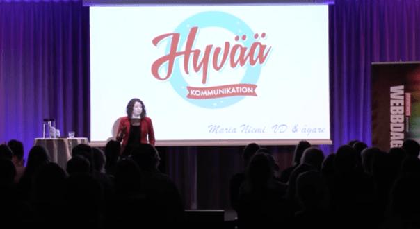 Maria Niemi talare på Webbdagarna Offentlig sektor 2016