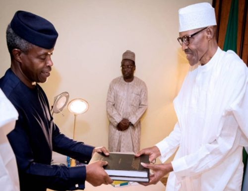 Osinbajo-Presents-reports-to-Buhari
