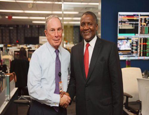 Aliko Dangote with Michael Bloomberg