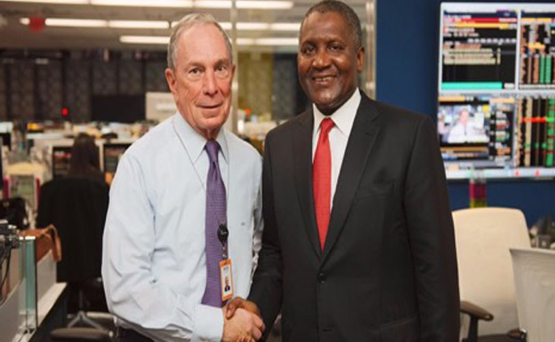 Dangote partners with Bloomberg