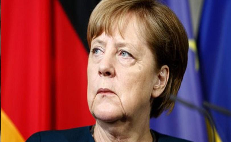 Buhari, Merkel meet inside Aso Rock