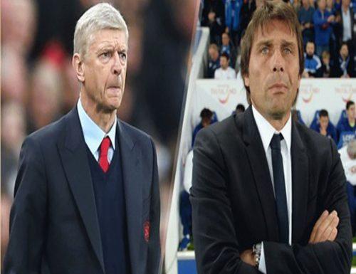 Arsenal Arsene Wenger and Chelsea's Antonio Conte