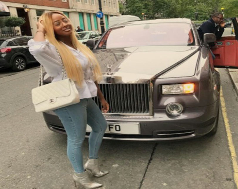 Dj Cuppy shares Picture of herself, her Father and his Fancy Royce!!