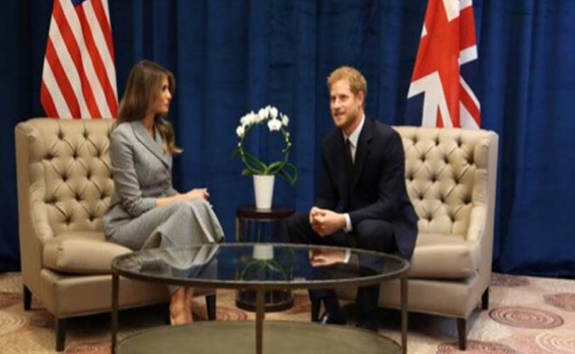 Prince Harry visits lady Melania Trump ahead of Invictus Games