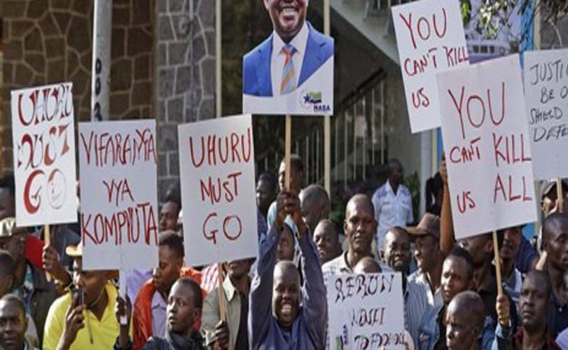 Kenya's Supreme Court annuls Presidential election for irregularities, orders new vote.