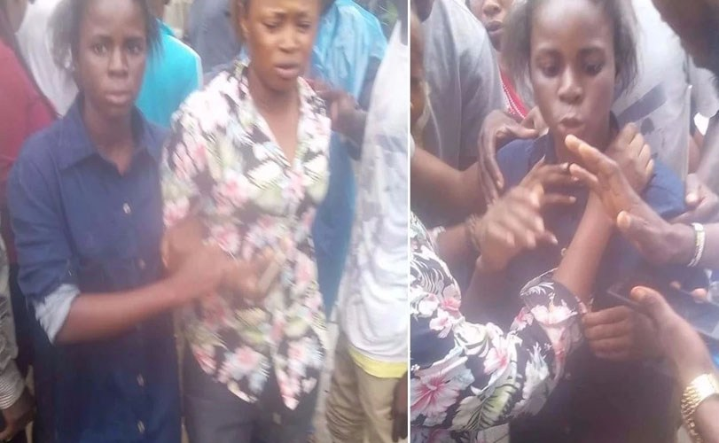 Girl caught for stealing in Delta State