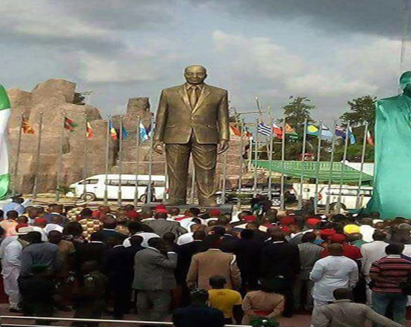 Outrage as Governor Rochas unveils giant statue of Jacob Zuma in Imo State