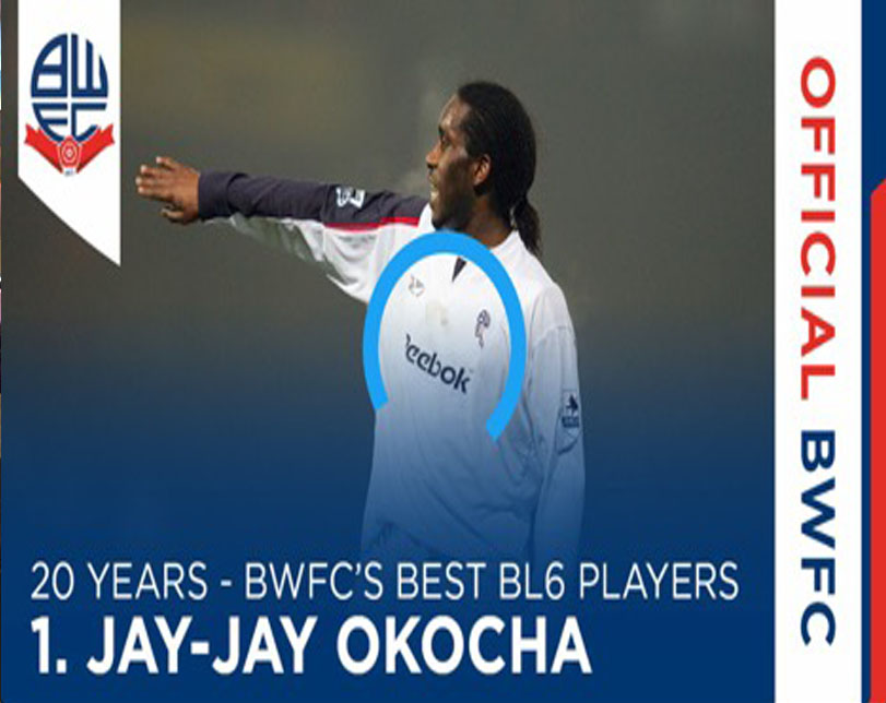 Bolton fans vote Okocha the best ever Player at Reebok/Macron Stadium