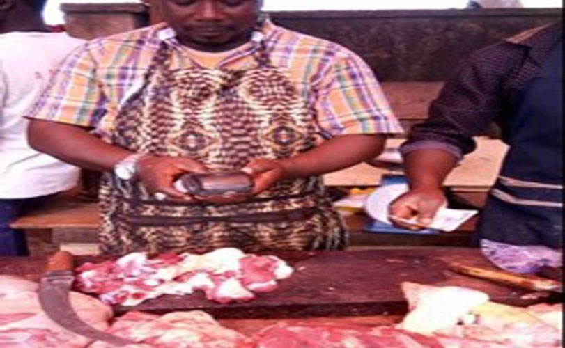 Viral Photo of Meat Seller using POS