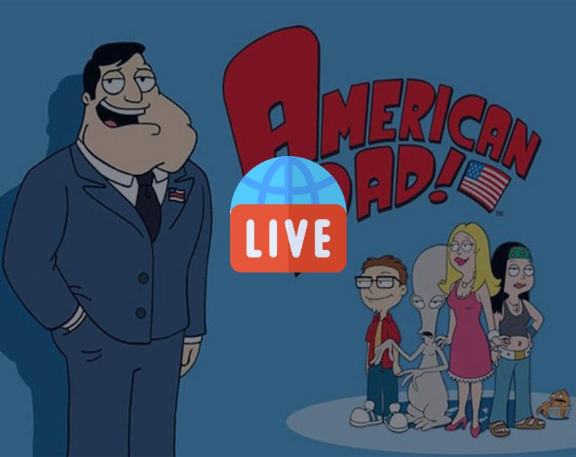 Cartoon: American Dad Live Stream – 24/7